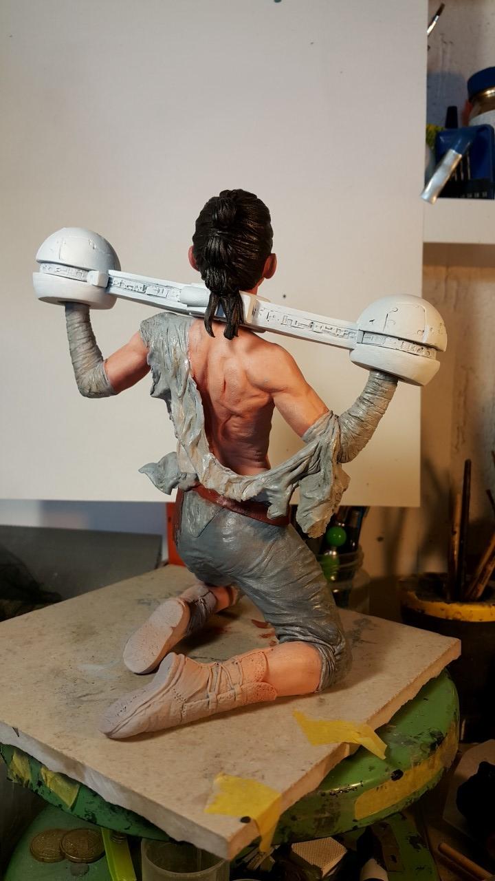Star Wars diorama Where is Rey? - 1/6 scale custom