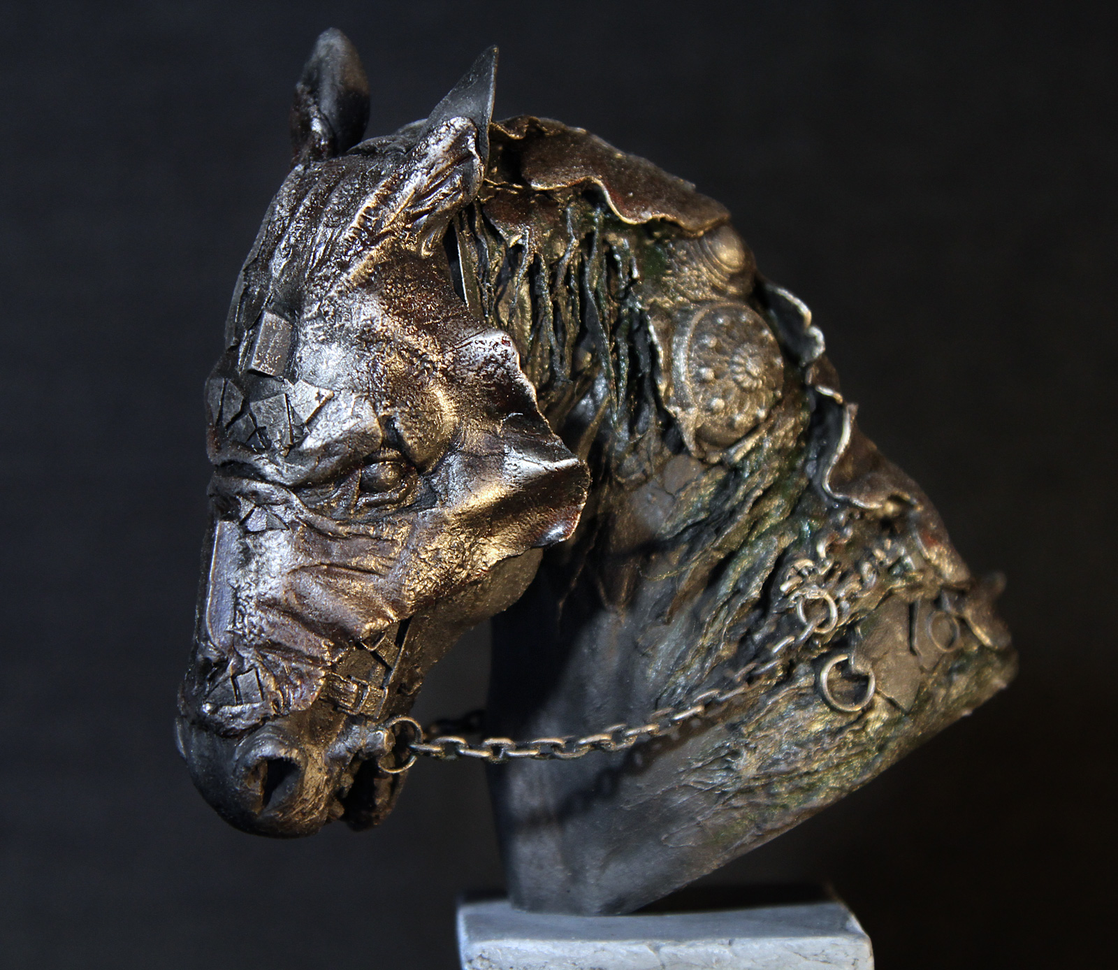 Fantasy Sculpture of War Horse