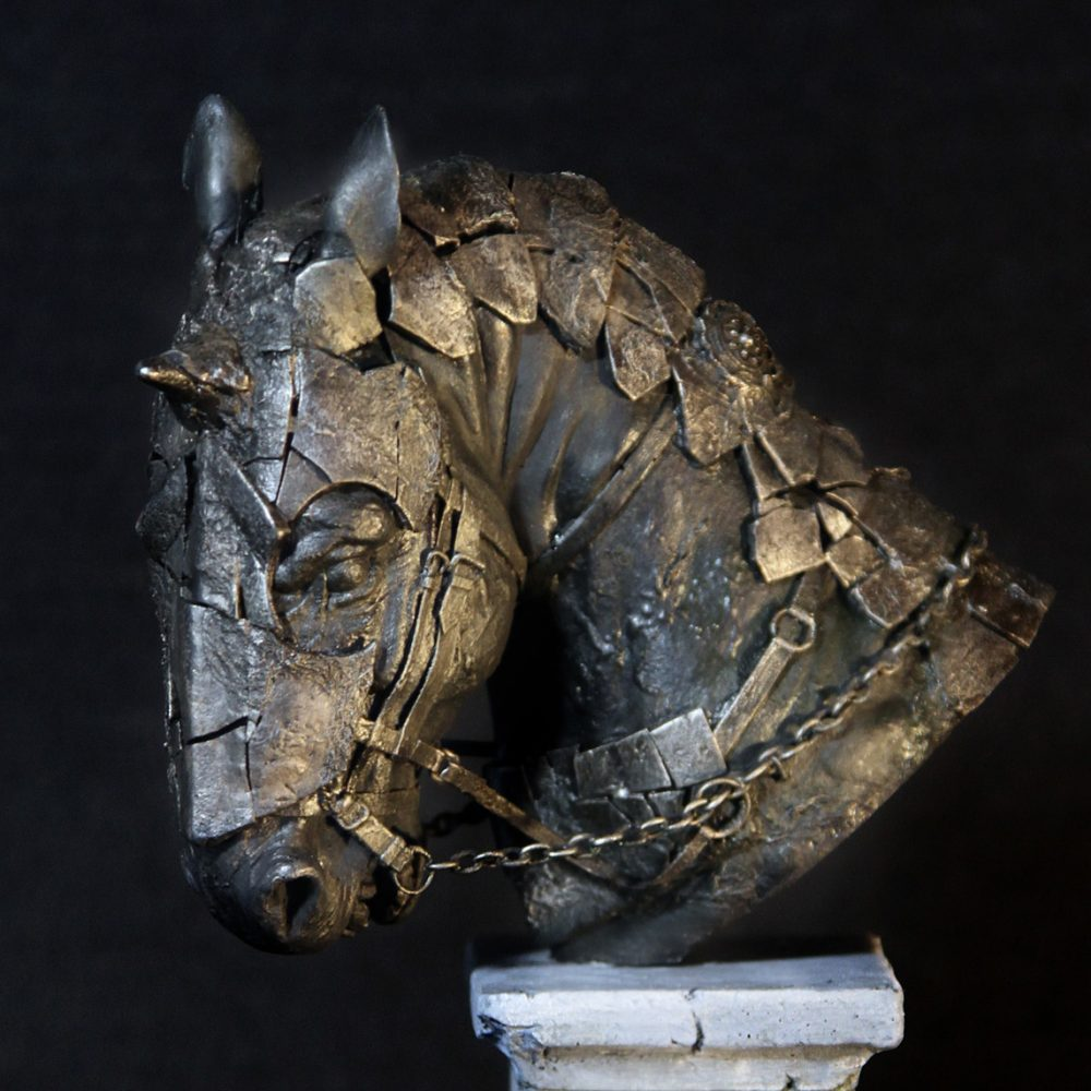 Fantasy Sculpture of Warhorse 2